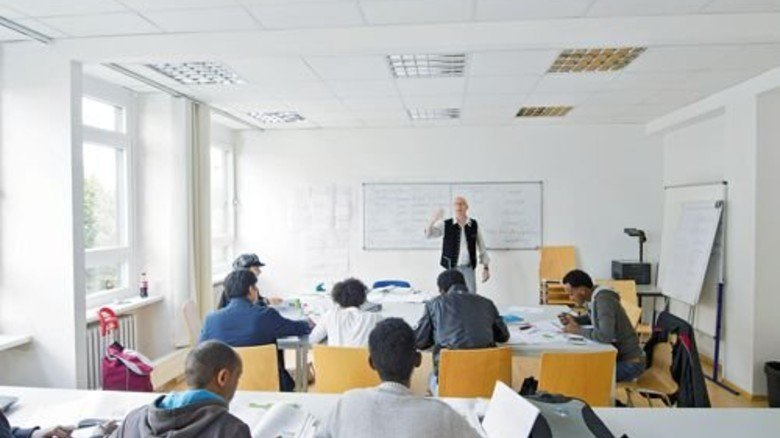 Unterricht: Flüchtlinge lernen Deutsch. Foto: BBW