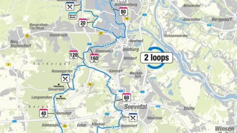 Die Radstrecke hatte eine Länge von 180 Kilometern. Foto: Veranstalter