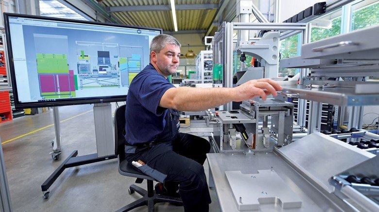 Voll digital: Baupläne aus Papier gibt es bei Feldmann nicht mehr.