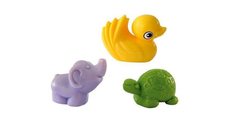 Niedlich: Kleine Figuren aus Seife sind die Spezialität von Kappus. Foto: Scheffler
