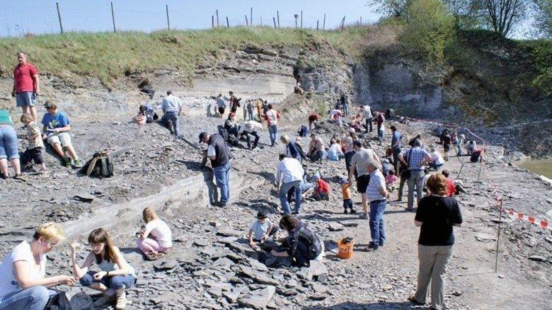 Spaß für Groß und Klein: Schiefersteinbruch des Jurafangowerks Bad Boll. Foto: Schieferbruch Kromer, / Dr Heberer