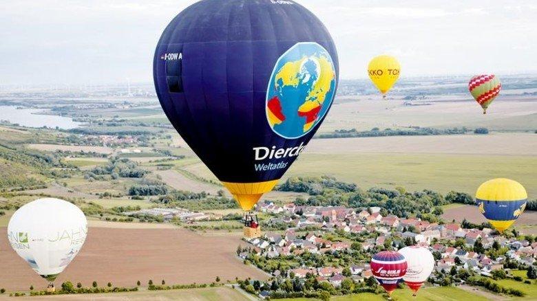 Ruhige Thermik: Mit dem Heißluftballon über den Freistaat. Foto: Seitz
