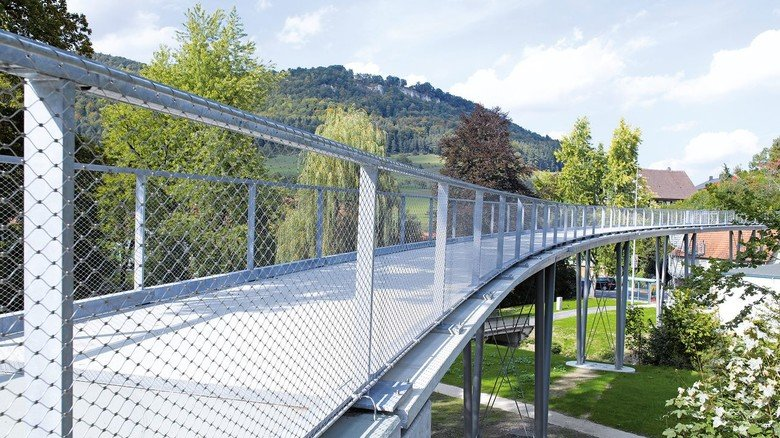 Textilbeton-Brücke: Sie steht in Lautlingen in Baden-Württemberg.