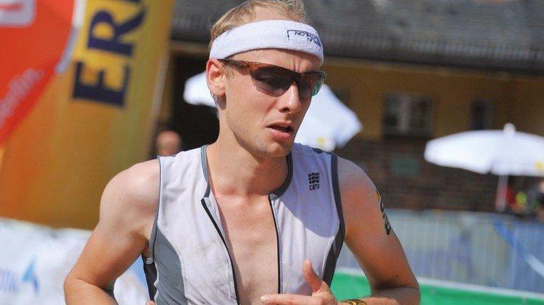 """Geschafft: Im Herbst 2016 beim """"BerlinMan""""-Triathlon. Foto: Privat"""