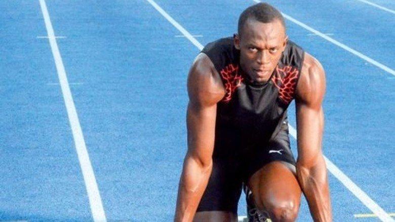 Sprint-Star Usain Bolt: Er schwört auf die Rennbahn aus Deutschland. Foto: Privat