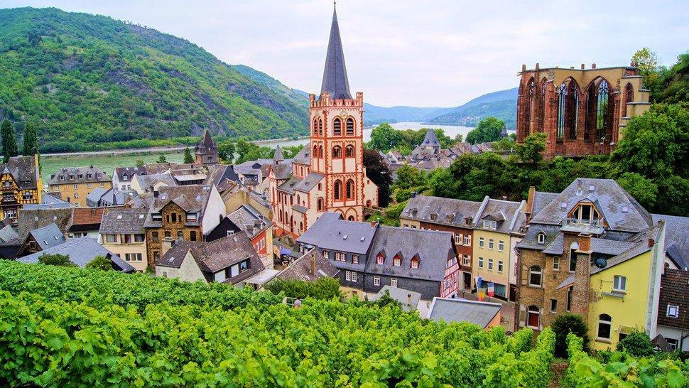 Im Oberen Mittelrheintal: Bacharach.