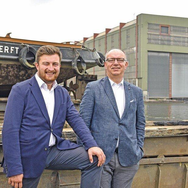 Doppelspitze: Marek Klimenko (rechts), der seit 31 Jahren für Hitzler tätig war, übernahm die Werft gemeinsam mit seinem Sohn Kai.