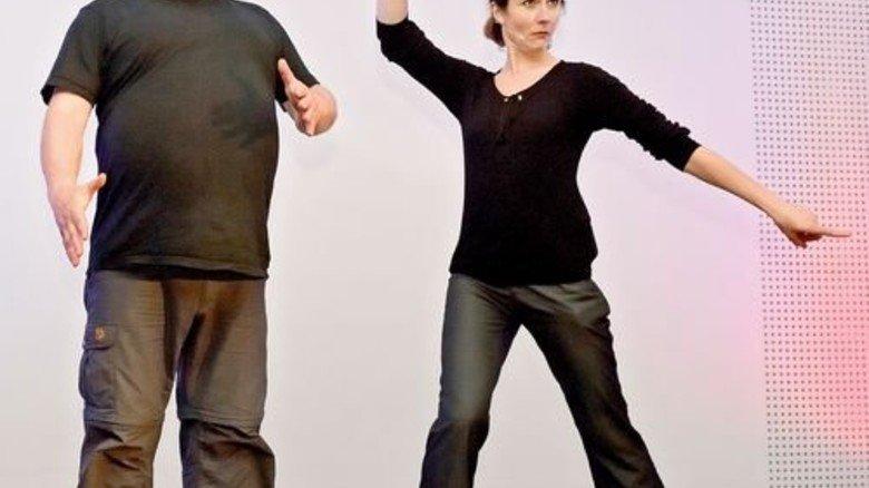 Improvisationstheater: Schauspieler inszenieren Industrie 4.0. Foto: Scheffler