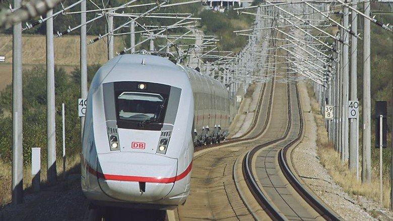 Schnittig: Der neue ICE 4 auf der jetzt komplett fertiggestellten Hochgeschwindigkeitstrasse. Foto: Deutsche Bahn