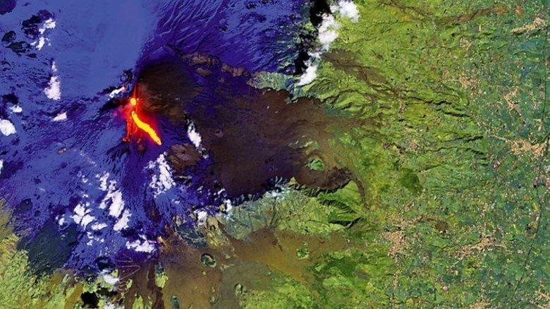 Detailliert: Selbst einen Vulkanausbruch des Ätna auf Sizilien erfassen die Sentinel-Satelliten. Foto: ESA