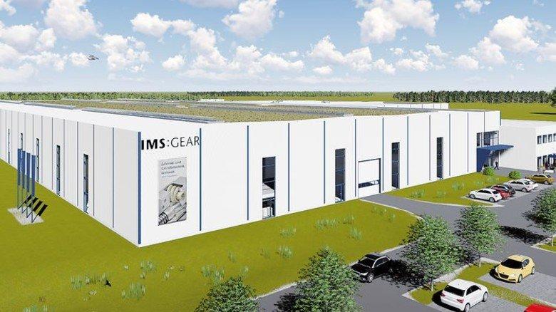 Beispiel IMS Gear: Dieses neue Werk baut der Getriebespezialist derzeit in Villingen-Schwenningen, hier sollen 200 Leute arbeiten. Illustration: Werk