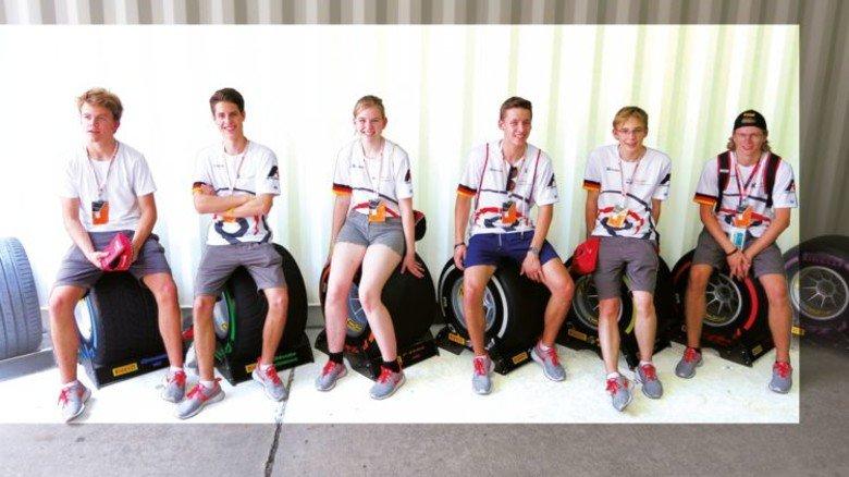 Starke Truppe: Die Schüler vom Team Pioneers aus Kronshagen bei Kiel. Foto: Privat