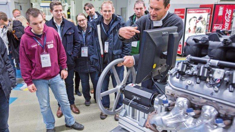 Runde Sache: Drehmoment-Test bei ThyssenKrupp System Engineering. Foto: Lorenczat