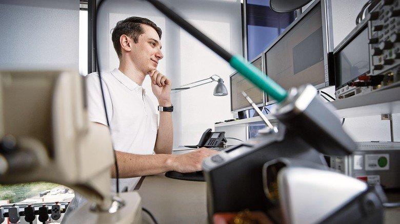 Studium: Sebastian  Weber studiert Wirtschaftsingenieurwesen. Das ist einer von über  20 Studiengängen an der Dualen  Hochschule.