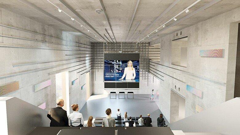 Mitreden erwünscht: Auf der großen Tribünen-Treppe soll über Technikfolgen debattiert werden.