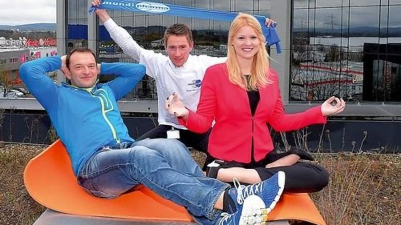 Voll dabei: Guido Reichardt, Florian Albrecht und Karoline Kipping (von links). Foto: Sandro