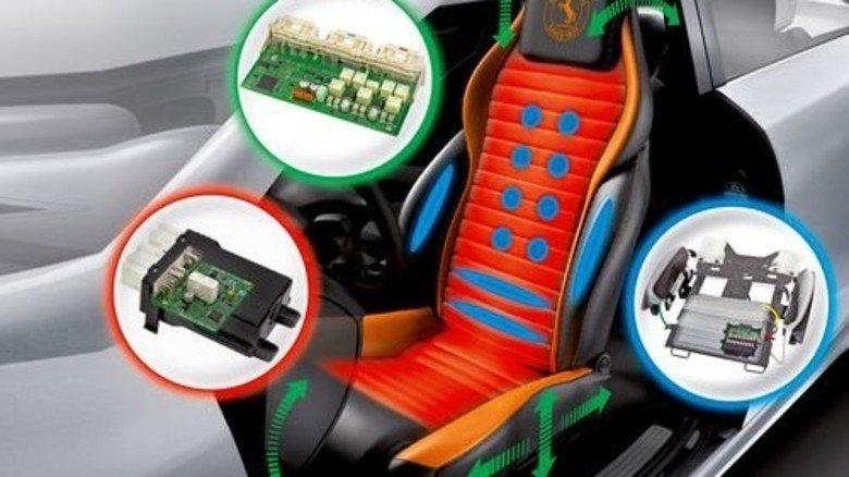 Luft mit Druck: Wie hier bei Continental sorgen Elektronik und Zellen im Sitz für eine Massage. Foto: Continental
