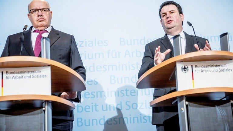 Vereint gegen die Krise: Wirtschaftsminister Peter Altmaier (links) und Arbeitsminister Hubertus Heil bei einer Pressekonferenz im März.