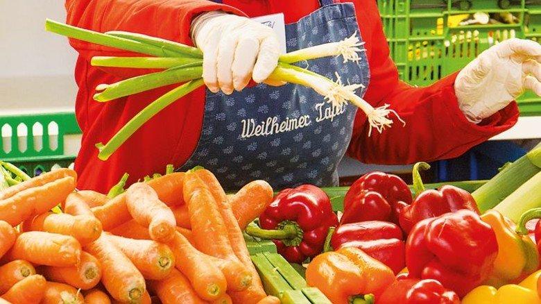 Bunt: Alle verteilten Lebensmittel sind Ausschussware der örtlichen Supermärkte. Foto: Bodmer