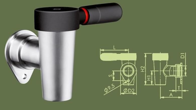 Serienreif: Als erstes Produkt wurde der Entleerhahn auf Edelstahl umgestellt. Foto: Werk