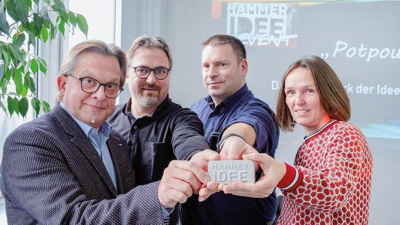 Starker Arbeitskreis: Uwe Nahrgang, Thomas Junior, Thomas Löffler und Gisela Quintenz (von links) haben die Hammeridee organisiert.