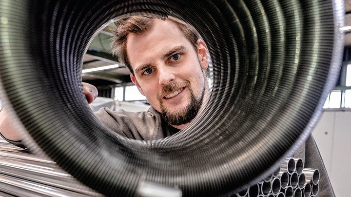 Zukunft im Blick: Dennis Köchling besucht die Meisterschule.