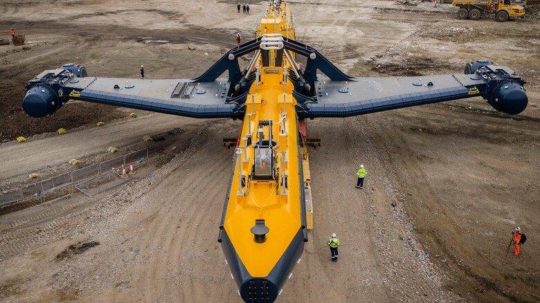 Montage: Die 680 Tonnen schwere Anlage wurde in der schottischen Hafenstadt Dundee zusammengebaut.