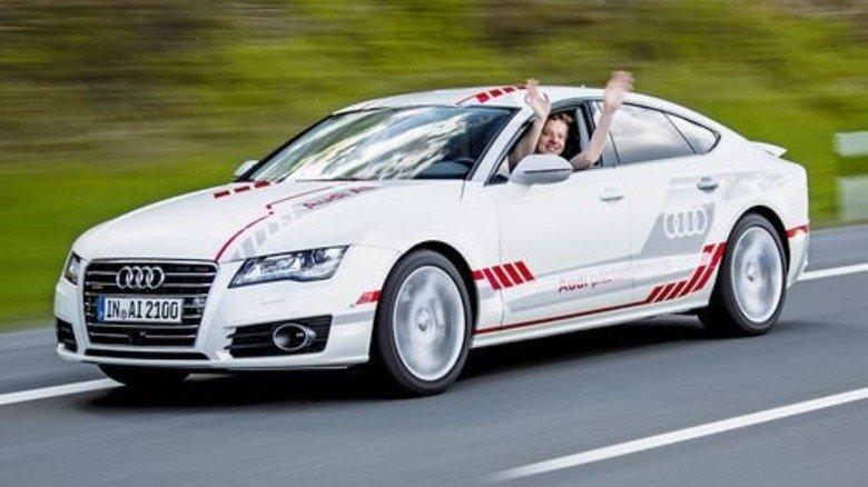 Testfahrzeug: Dieser Audi kommt auch ganz alleine ans Ziel. Foto: Werk