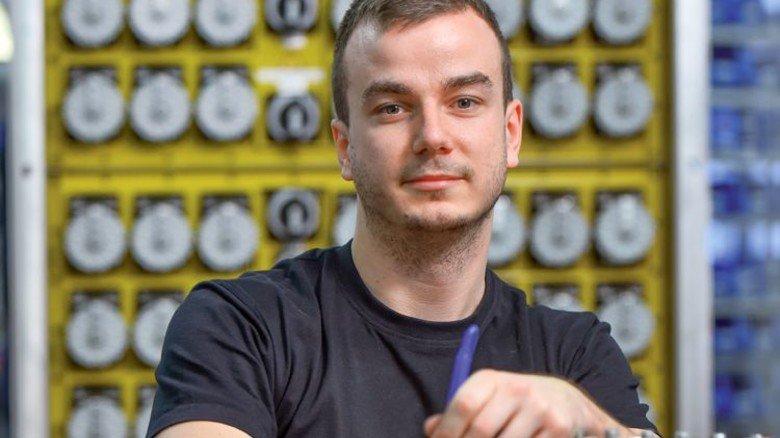 Ambitioniert: Marco Rath arbeitet seit vier Jahren bei Karl Dose und studiert nun nebenberuflich Elektrotechnik. Foto: Christian Augustin