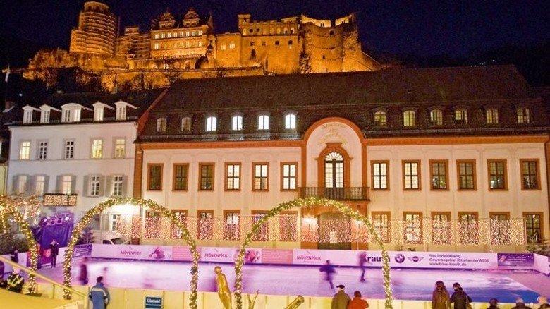 Heidelberg: Eislaufen mit herrlichem Schlossblick. Foto: Veranstalter