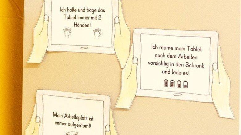 Klare Regeln: Ohne die kommt man auch in einer modernen Tablet-Klasse nicht aus! Foto: Roth
