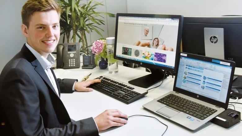 Michal Böhm: Hat seinen Bachelor of Science in Wirtschaftsinformatik bei Roche in der Tasche. Foto: Rinderspacher