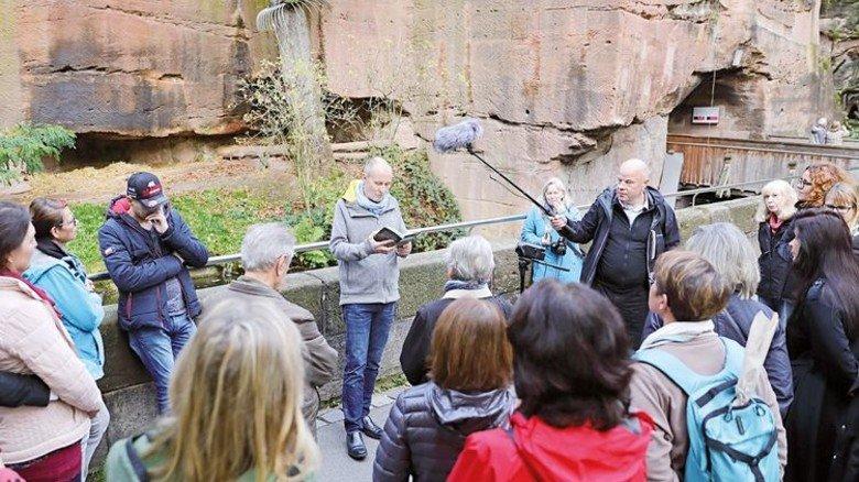 Tour und Lesung mit Franken-Krimiautor Jan Beinssen: Detektiv Paul Flemming ermittelt im Tiergarten Nürnberg. Foto: Eisele.