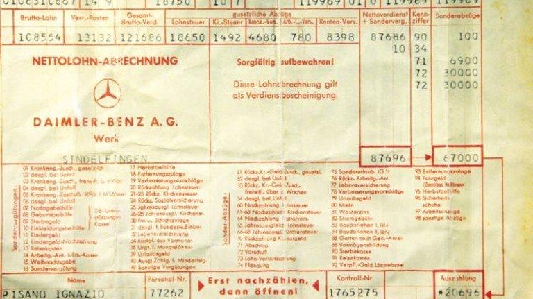 Historischer Lohnzettel: Nicht wegwerfen, bevor man Klarheit übers eigene Rentenkonto hat! Foto: dpa