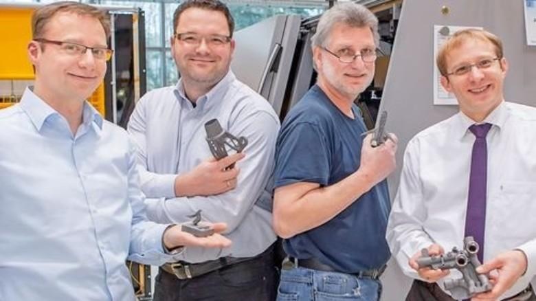 Das Team: Daniel Tolksdorf, Thorsten Schröder, Gerold Tetzlaff und Kai Schimanski (von links). Foto: Ahlert