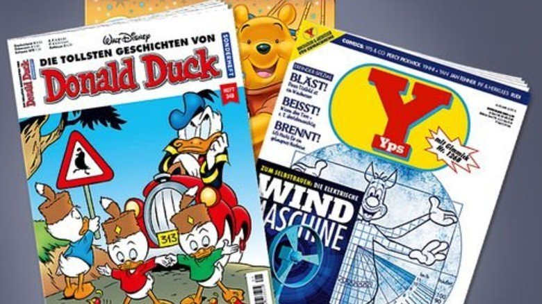 Lesespaß: Die Hälfte der Kinder investiert in Comics und Zeitschriften. Fotos: Ehapa