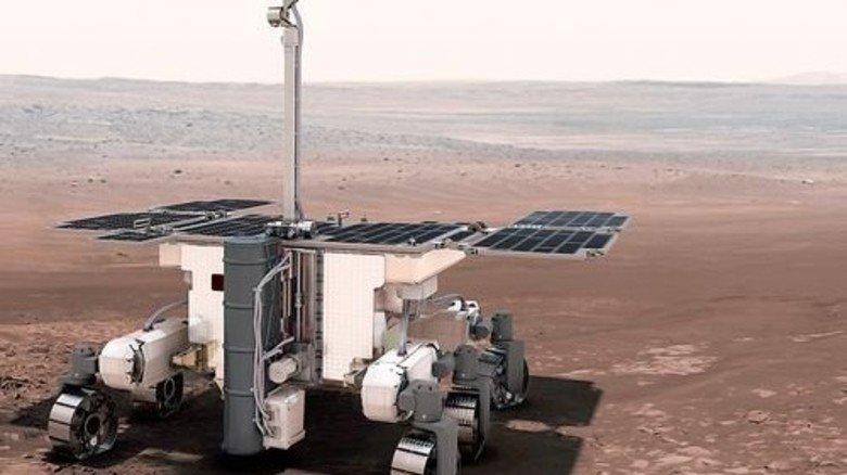 Mobil: So sieht der Rover aus, der 2018 starten soll. Foto: ESA