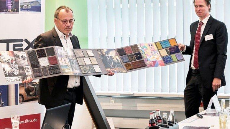 Experten für leichte Textilien: Alexander von Fuchs Nordhoff (links) und Steven Bakker. Foto: Woeber