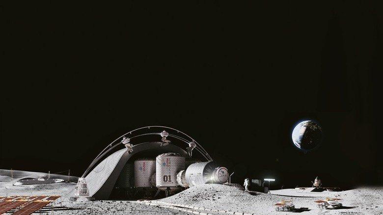 Zukunftsvision: So könnte das Habitat auf dem Mond aussehen.