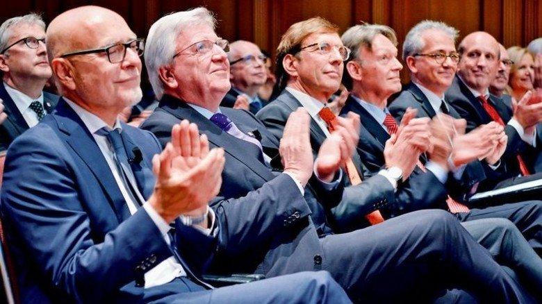 Überzeugt von Europa: Redner und Gastgeber des Hessischen Unternehmertages. Foto: Scheffler
