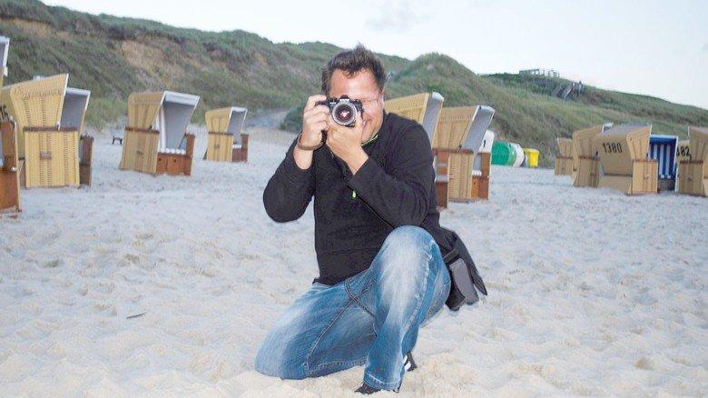 Sein Ziel stets im Auge: In seiner Freizeit greift der 46-Jährige gern zur Kamera.