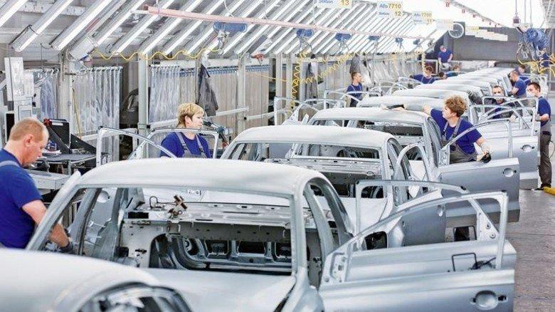 Karosseriebau: In Kaluga fertigte VW 2016 mehr als 110.000 Autos. Foto: Volkswagen AG