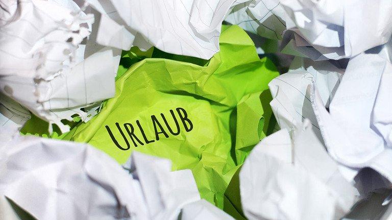 Selten, aber möglich: Der Uralubsantrag landet im Müll.