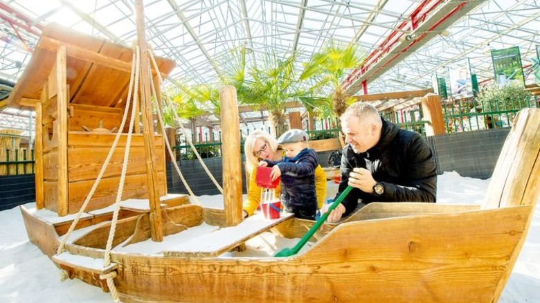 Sandspielplatz: Hier können Kinder so richtig herumtollen. Foto: Straßmeier