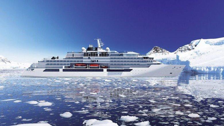 Luxuriöser Eisbrecher: An Bord der Jacht soll es sogar einen Butler-Service geben. Foto: MV Werften