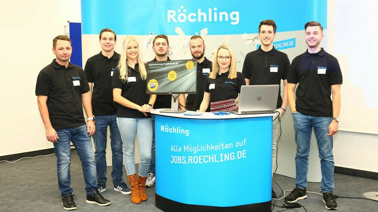 Prämierte Digiscouts: Die Auszubildenden am Röchling-Sustaplast-Standort in Lahnstein.