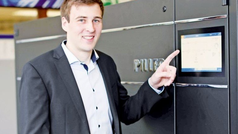Der junge Ingenieur: Jan-Patrick Viebrans fing nach dem Studium wieder bei Piller an. Foto: Schaarschmidt