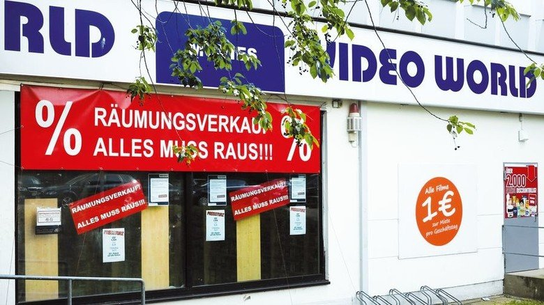 Videothek: Null Chance gegen das Web. Foto: dpa