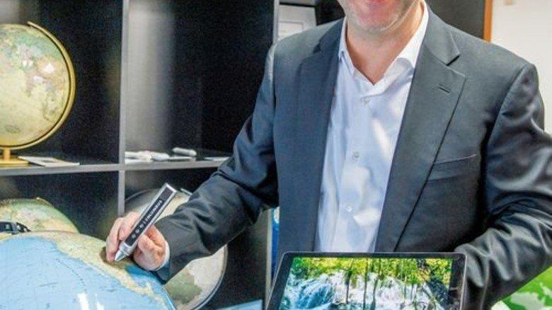 … bietet Torsten Oestergaard Google-Earth die Stirn. Foto: Roth