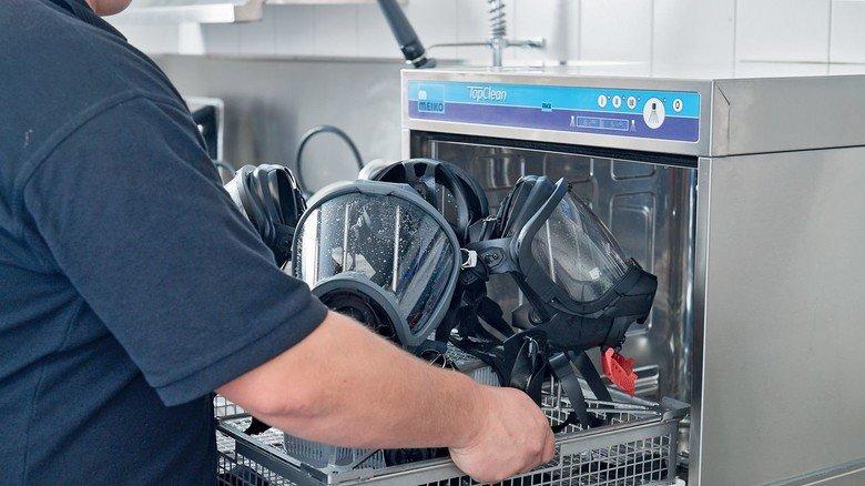 Wichtig für die Schutzausrüstung: Desinfektionsgeräte von Meiko aus Offenburg.